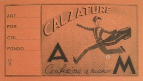 Ducal label, Florence, 1930s. Ducal archive
